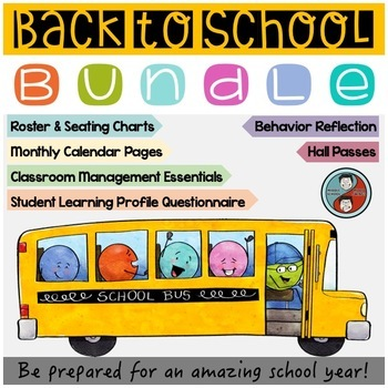Back to School Forms, Passes, Calendar, and More Bundle  Ideal for Middle School