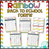 Back to School Forms - Rainbow Chevron
