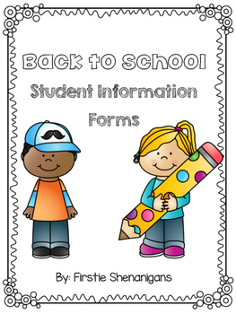 Back to School Forms - Student Information