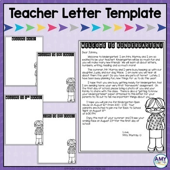 back to school forms editable meet the teacher letter template