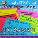 Back to School Forms Through the Year - THE BUNDLE
