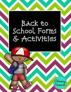 Back to School Forms and Activities