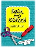 Back to School Forms and Fun - EDITABLE