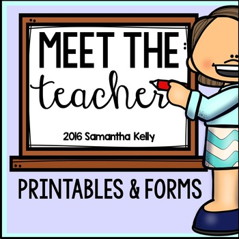 Back to School Forms and Printables for Meet the Teacher
