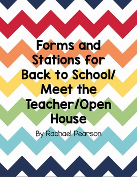 Back to School Forms and Stations