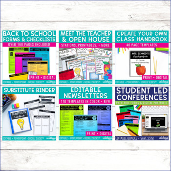 Back to School Forms | Editable