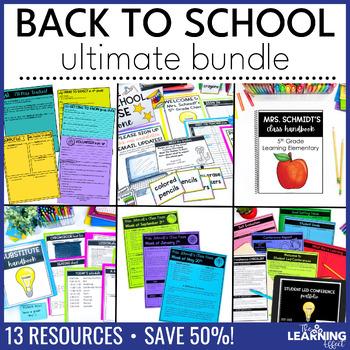 Back to School Forms, Printables, Checklists   Editable BUNDLE