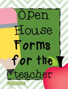 Back to School Open House Paperwork - for parents and students!