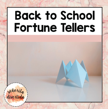 Back to School Fortune Teller Activity