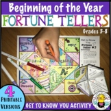 Back to School Fortune Tellers: 4 Templates, Get to Know G
