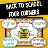 Back to School Four Corners Activity
