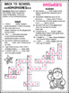 Back to School Fourth Grade Activity Sheets