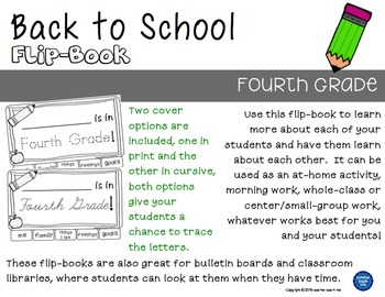 Back to School - Fourth Grade - Flip-Book