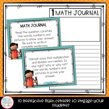 Back to School Fourth Grade Math Centers