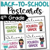 Back to School Fourth Grade Welcome Back Postcards Editable