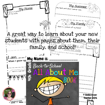 Back to School Fourth grade (4th) Kit {Brochure, Presentation, and More +)