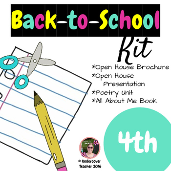 Back to School Fourth grade (4th) Kit {Brochure, Presentat