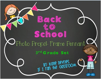Back to School Frame Pennant 3rd Grade