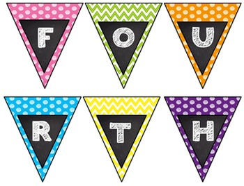 Back to School Frame Pennant 4th Grade