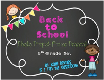Back to School Frame Pennant 5th Grade