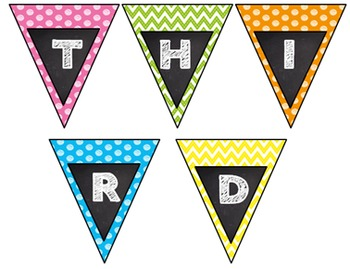 Back to School Frame Pennant Elementary Bundle