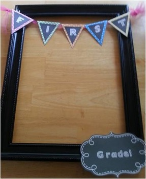 Back to School Frame Pennant First Grade