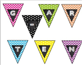Back to School Frame Pennant Kindergarten