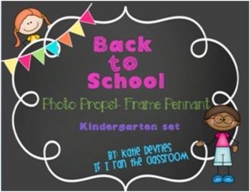 Back to School Frame Pennant Kindergarten