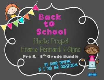 Back to School Frame Pennant and Signs Elementary Bundle