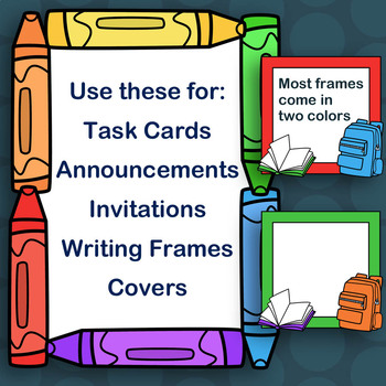 Back to School Frames Clipart