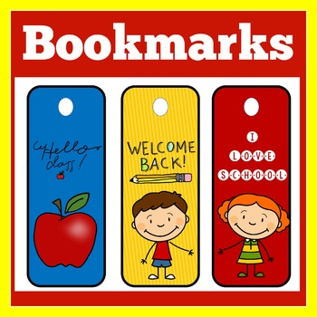 Back to School Bookmarks | Bookmarks | Bookmarks for Students