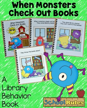 "Back to School Free Behavior Book--""When Monsters Check Out Books"""