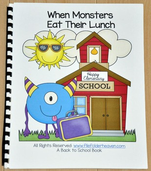 """Back to School Free:  """"When Monsters Eat Their Lunch"""""""