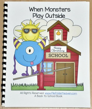 """Back to School Free Behavior Book--When Monsters Play Outside"""""""