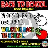 Back to School Free Clip Art Set for Teachers