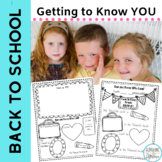 FREE Back to School Getting to Know You K-First Grade ELL Special Education
