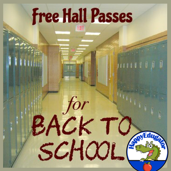 Back to School - Free Hall Pass Slips