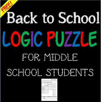 Back to School ~ Free Logic Puzzle!