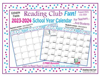 2017-2018 School Year Calendar FREE Mega Bundle (Back to School)