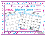 Calendar School Year 2021 - 2022 (Editable) – FREE, Track Reading & Assignments