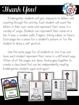Back to School Name Counting Activity