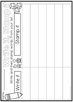 Freebee Printables - Word Work