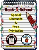 Back to School Freebie #12 -  #StartFreshBTS - Preschool b