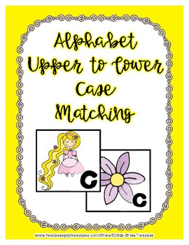 Back to School Freebie #23 -  Letter Matching - Preschool by Narcissa