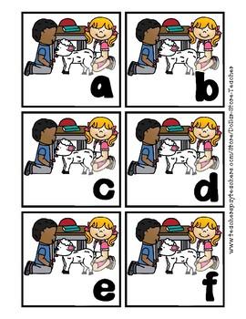 Back to School Freebie #42 -  Mary & Lamb A to Z - Preschool by Narcissa