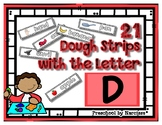 Back to School Freebie #41 -  Dough Word Strips D - Presch