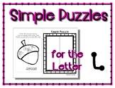 Back to School Freebie #45 -  Simple Puzzles L - Preschool