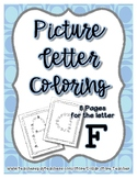 Back to School Freebie #54 -  Picture Letter Coloring F -