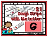 Back to School Freebie #59-  Dough Word Picture Strips G -
