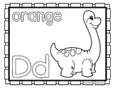 Back to School Freebie #63-  Dinosaur Color Pages - Presch
